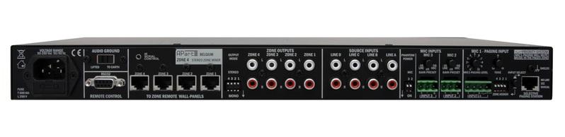 Микшер с усилением APart ZONE4 контроллер аудиопроцессор apart матричный коммутатор audiosystem 8 8