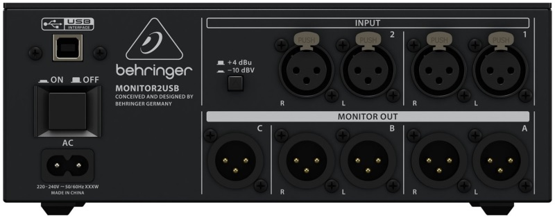 Контроллер, элемент управления Behringer MONITOR2USB колонка behringer digital monitor speakers ms20
