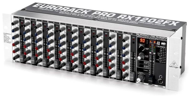 Рэковый микшер Behringer EURORACK PRO RX1202FX микшерный пульт с усилением behringer pmp4000 europower