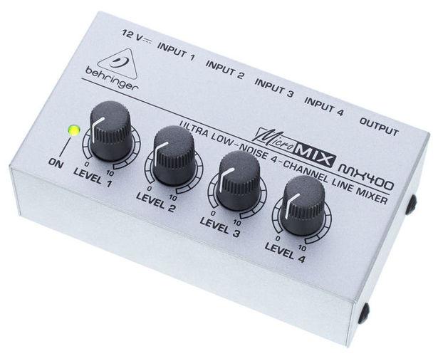 Аналоговый микшер Behringer MICROMIX MX400 аналоговый микшер behringer xenyx x 1204usb