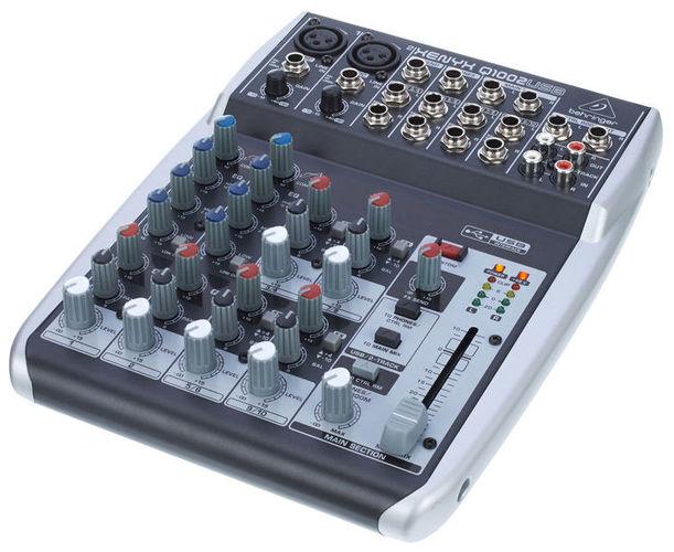 Аналоговый микшер Behringer XENYX Q1002USB цифровой микшерный пульт behringer x32 producer