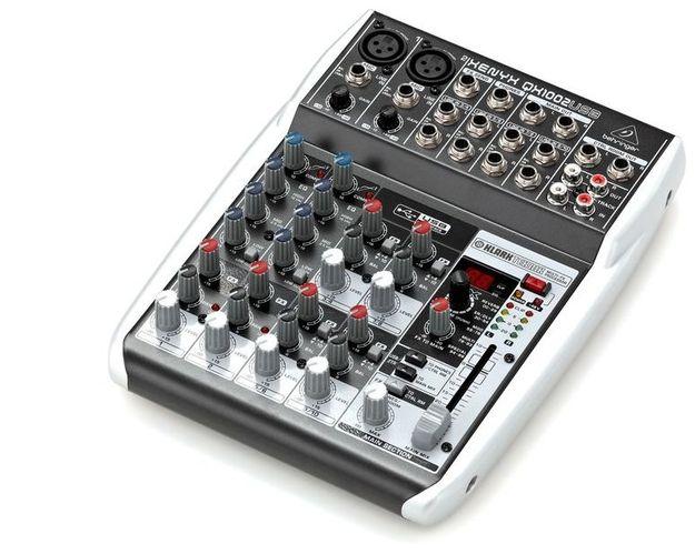 Аналоговый микшер Behringer XENYX QX1002USB цифровой микшерный пульт behringer x32 producer