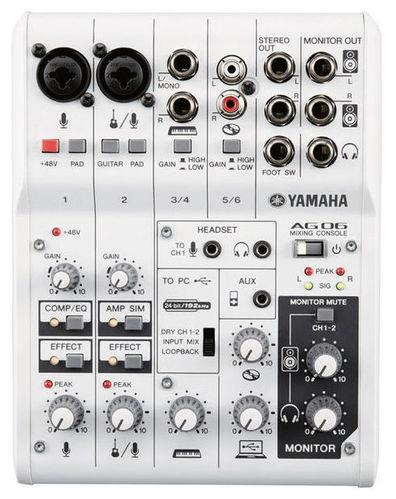 Аналоговый микшер Yamaha AG06 микшер yamaha ktv