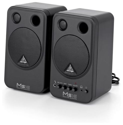 Активный студийный монитор Behringer MONITOR SPEAKERS MS16 колонка behringer digital monitor speakers ms20