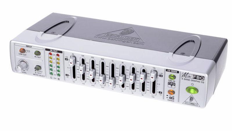Эквалайзер Behringer MINIFBQ FBQ800 universal portable 5v 30000mah li ion battery dual usb solar powered power bank w led indicator