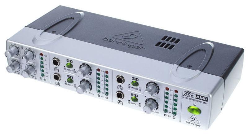 Усилитель для наушников Behringer MINIAMP AMP800 усилитель мощности 850 2000 вт 4 ом behringer europower ep4000