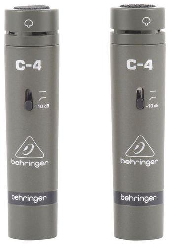 Микрофон с маленькой мембраной Behringer C-4 усилитель мощности 850 2000 вт 4 ом behringer europower ep4000