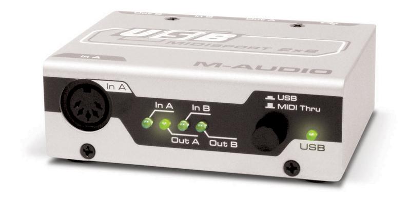 Звуковая карта внешняя M-Audio MidiSport 2x2 USB