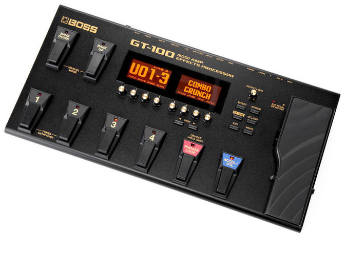 Гитарный процессор для электрогитары Boss GT-100 boss gt 100