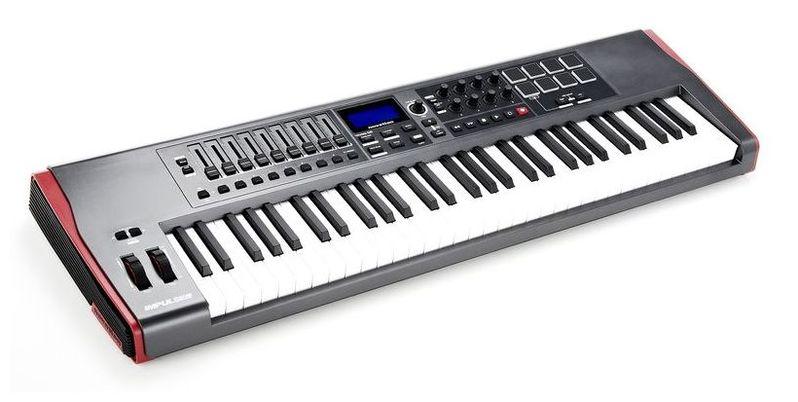 MIDI-клавиатура 61 клавиша Novation Impulse 61 midi клавиатура 61 клавиша miditech i2 61 black edition