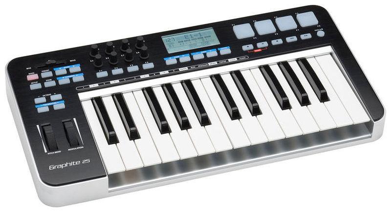 MIDI-клавиатура 25 клавиш Samson GRAPHITE 25 midi dj контроллер samson graphite md13