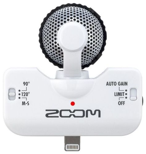 iPad/iPhone микрофон Zoom iQ5 White zoom xyh 5 съемный микрофон для h5 h6