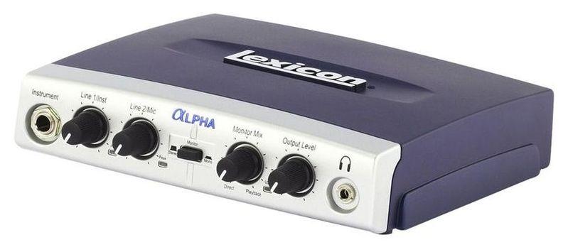 Звуковая карта внешняя Lexicon ALPHA звуковая карта внешняя motu 16a