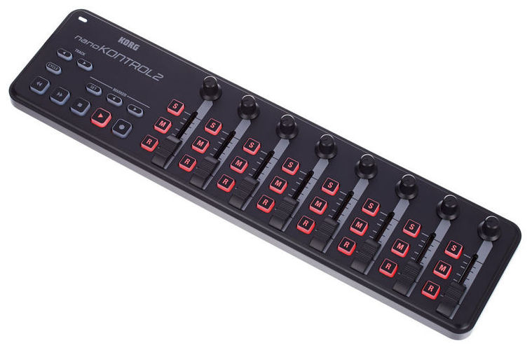 MIDI, Dj контроллер Korg nanoKONTROL2 BK korg nanokontrol2 bk