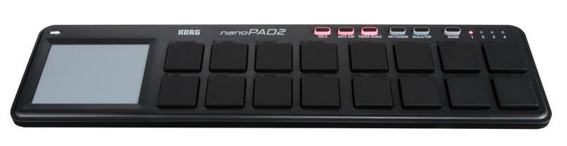 MIDI, Dj контроллер Korg nanoPAD2 BK korg nanokontrol2 bk