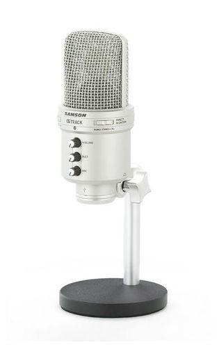 USB микрофон Samson G-Track USB samson samson живите go mic прямой usb клип на конденсаторный микрофон запись конференции игра мобильные компьютеры пшеницы серебро