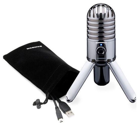 USB микрофон Samson Meteor Mic samson samson живите go mic прямой usb клип на конденсаторный микрофон запись конференции игра мобильные компьютеры пшеницы серебро