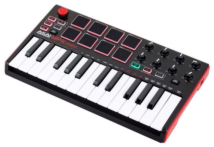 MIDI-клавиатура 25 клавиш AKAI MPK Mini MK2 цена