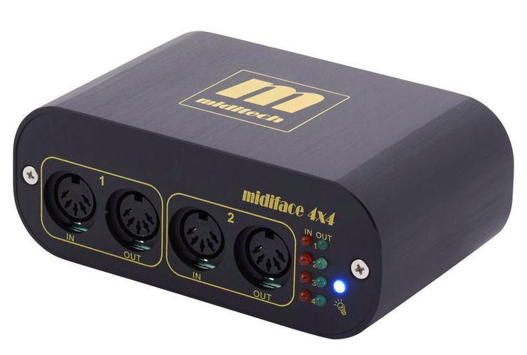 MIDI интерфейс Miditech MIDIface 4x4 midi клавиатура 88 клавиш miditech i2 stage 88