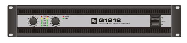 Усилитель мощности 850 - 2000 Вт (4 Ом) Electro-Voice Q1212 усилитель мощности 850 2000 вт 4 ом the t amp proline 3000
