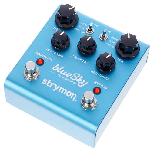 Педаль Reverb/Hall Strymon Bluesky педаль reverb delay strymon big sky
