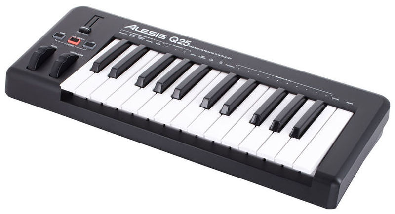 MIDI-клавиатура 25 клавиш Alesis Q25 хай хэт и контроллер для электронной ударной установки alesis hi hat controller for dm 10