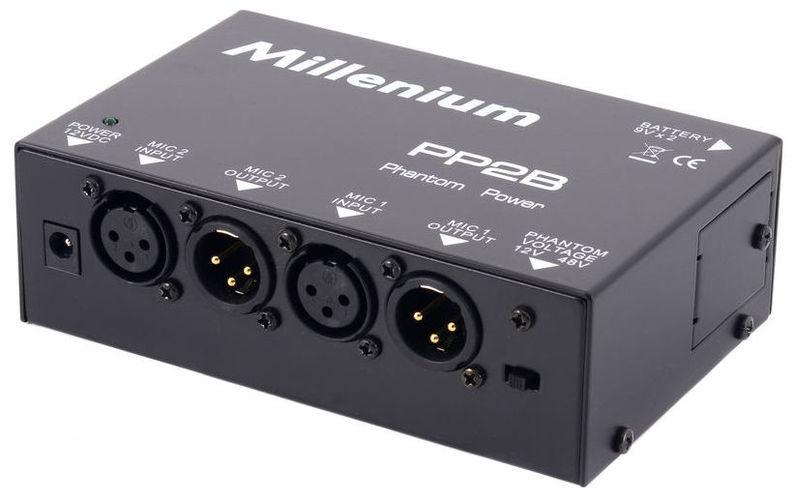 Питание для микрофона Millenium PP2B Phantom Power Supply рама millenium pdr 5004 prof drum rack