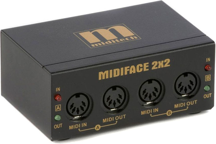 MIDI интерфейс Miditech MIDIface 2x2 2x neck