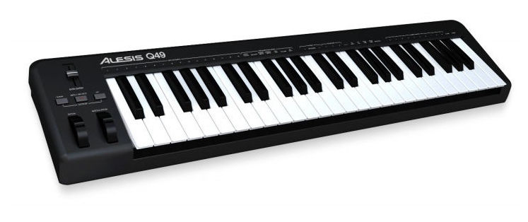 MIDI-клавиатура 49 клавиш Alesis Q49 хай хэт и контроллер для электронной ударной установки alesis hi hat controller for dm 10