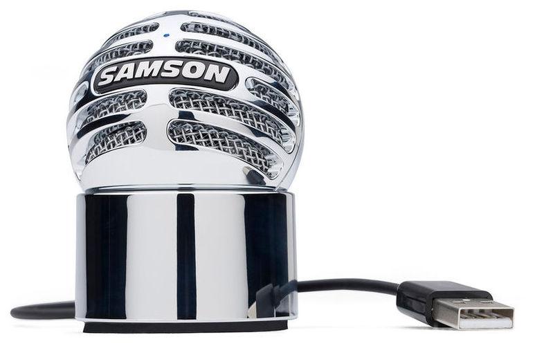 USB микрофон Samson Meteorite samson samson живите go mic прямой usb клип на конденсаторный микрофон запись конференции игра мобильные компьютеры пшеницы серебро