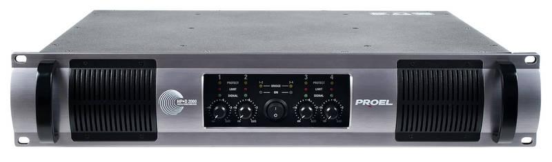 Многоканальный усилитель мощности PROEL HPD2000 усилитель мощности 850 2000 вт 4 ом proel hpd1000