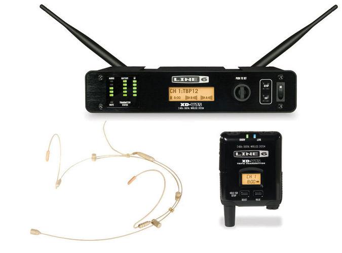 Радиосистема с головным микрофоном LINE 6 XD-V75HS Tan радиосистемы line 6 xd v75