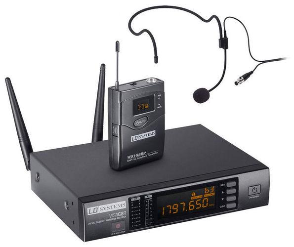 Радиосистема с головным микрофоном LD Systems WS 1G8 BPH аксессуар rgk ld 8 приемник лазерного излучения