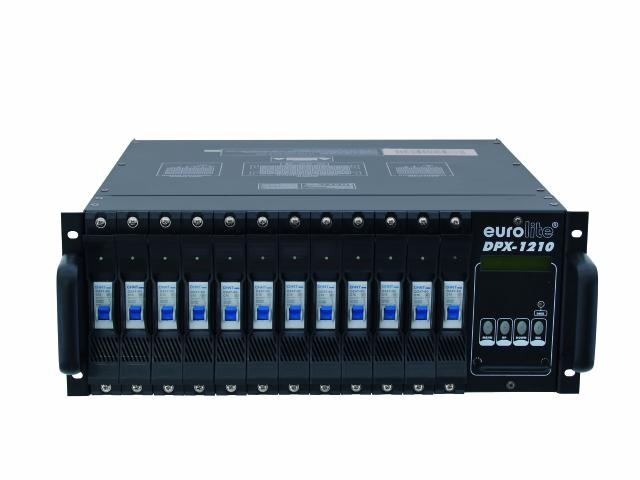Диммер, свитчер EUROLITE DPX-1210 dmx 19 генератор дыма eurolite dynamic fog 600