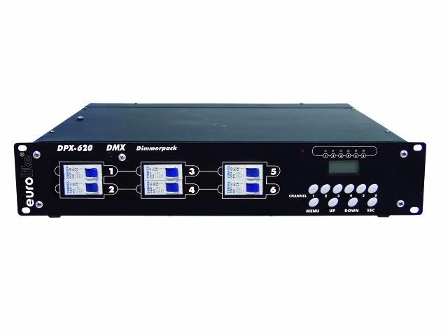 Диммер, свитчер EUROLITE DPX-620 dmx генератор дыма eurolite dynamic fog 600