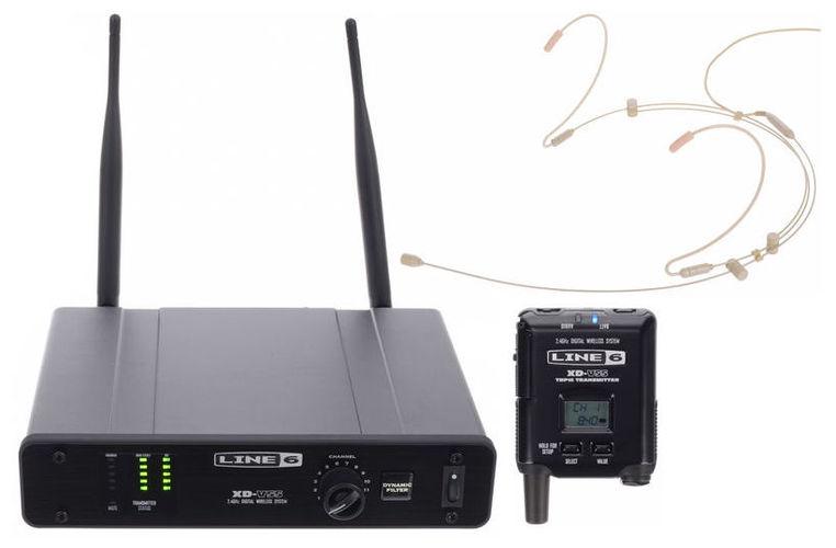 Радиосистема с головным микрофоном LINE 6 XD-V55HS Tan радиосистемы line 6 xd v75