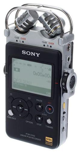 Рекордер Sony PCM-D100 jinghua jwd pcm 1 золотой микрофон шума высокой чувствительности миниатюрный микрофон расстояние большой ключ рекордер