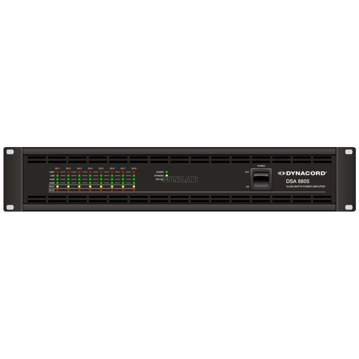 Усилитель мощности 850 - 2000 Вт (4 Ом) Dynacord DSA 8805 усилитель мощности 850 2000 вт 4 ом apart revamp4240t
