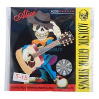 Струны для акустической гитары Alice A206L алиса алиса гитары струны стали гитарной струны акустической гитарной струны струны акустическая гитара 1 6 наборов строк 6 прикреплены 208 l