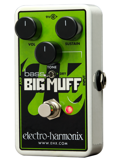 Педаль Overdrive и Distortion Electro-Harmonix Nano Bass Big Muff PI педаль wah electro harmonix nano doctor q